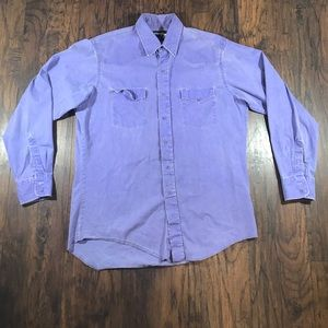 Vintage purple denim wrangler Button up shirt